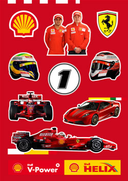 Formula One Stickers