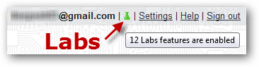 Activating Gmail labs