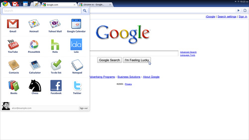 Google OS Screenshot
