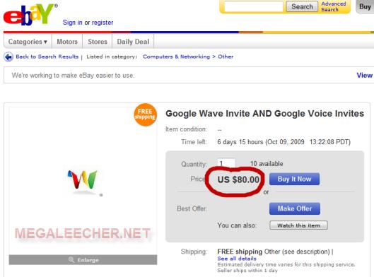 google wave invite  page
