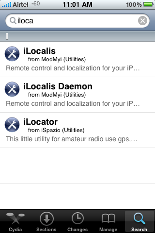 iLocalis In Cydia