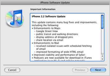 iPhone Firmware Update 2.2