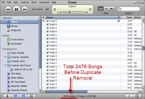 iTunes Library With Duplicates