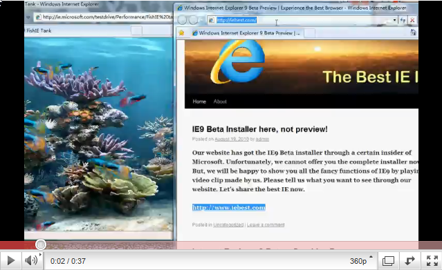 Internet Explorer 9 Public Beta Preview Video