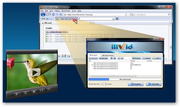 Megaupload Premium Link Grabber