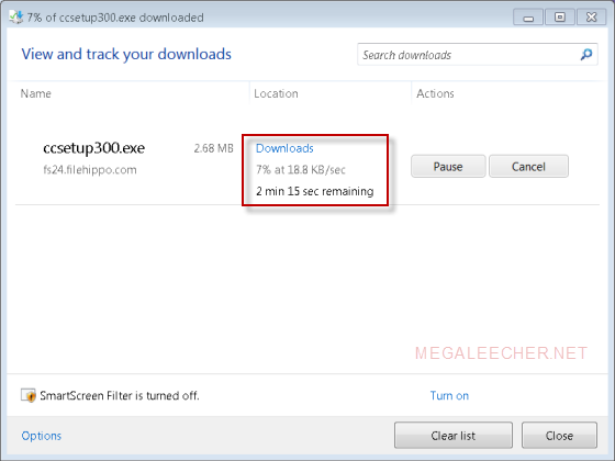 IE9 Updated Download Manager