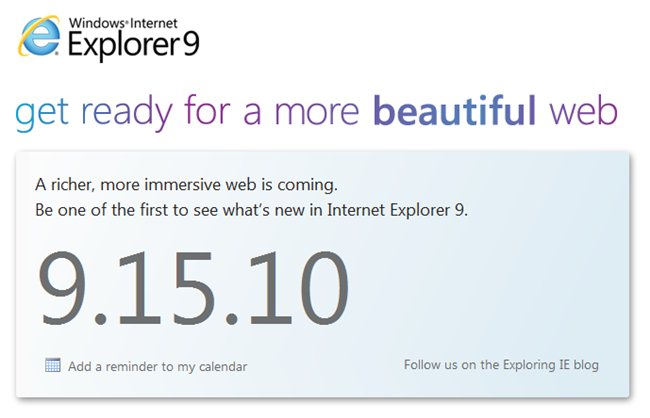 IE9 Beta Live Webcast