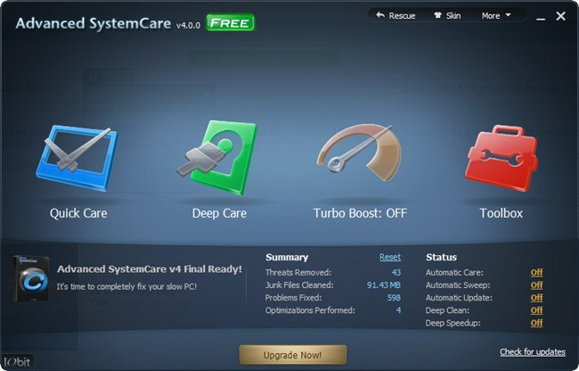 IOBit Advanced System Care 4