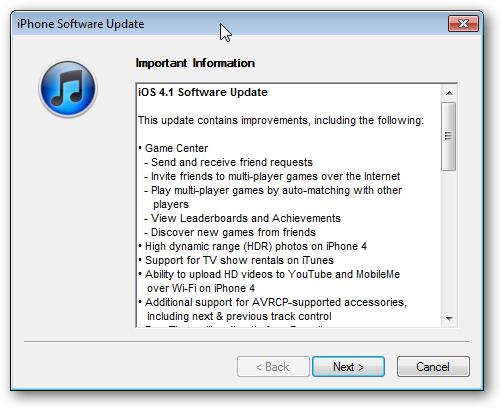 iOS 4.1 Update