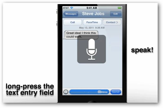 iOS 5 Speech