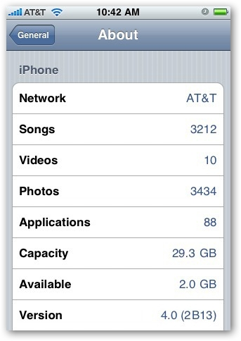 Apple iPhone Firmware Update 4.0