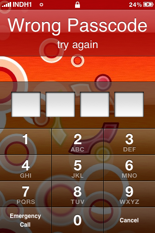 Wrong iPhone Passcode