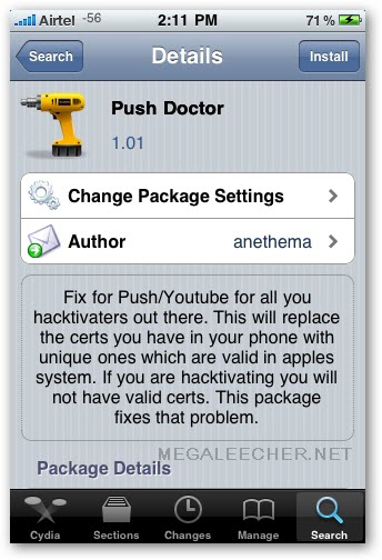 iPhone PUSH Doctor