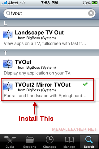 tvout2 mirror tv out