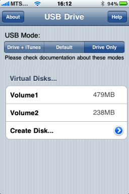USB Drive To Store Data On iPhone