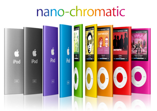 All New Colorful 8 And 16 GB iPod Nano Chromatic