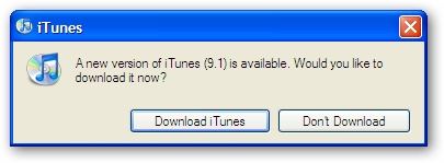 iTunes 9.1 Upgrade