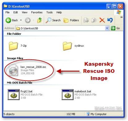 boot scan kaspersky