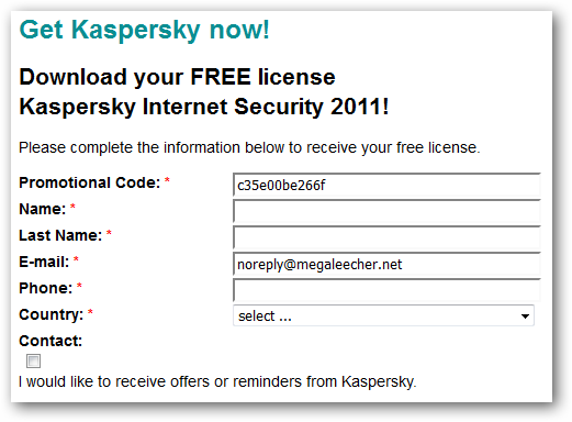 kaspersky internet security 2011 activation code for 1 year free