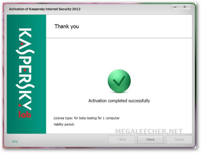 KIS 2012 Activation Successful