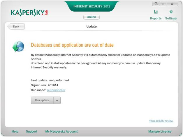 Kaspersky Internet Security 2012 Update