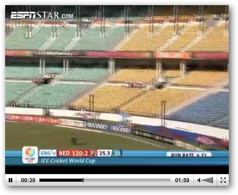 Watch Online Live Video Streaming of ICC Cricket World Cup 2011
