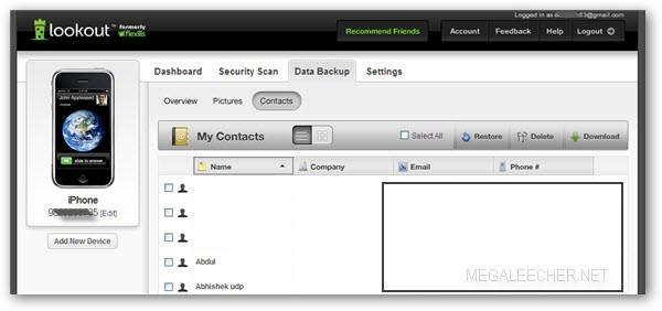 Lookout Contact Management