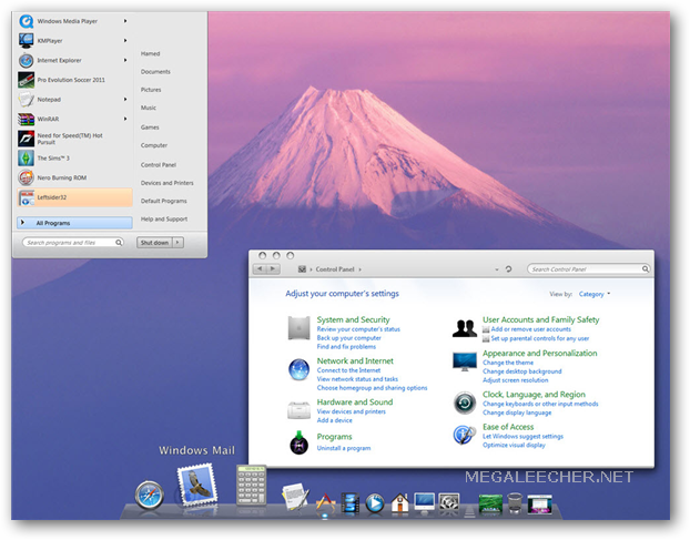 Mac OS X Transformation Pack For Windows