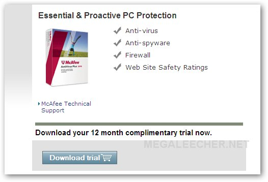 McAfee VirusScan Plus 2010 Free License Key Offer