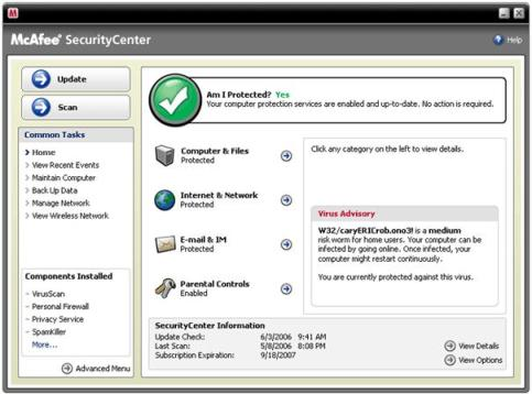 One Year Free Registration Key For McAfee VirusScan Plus