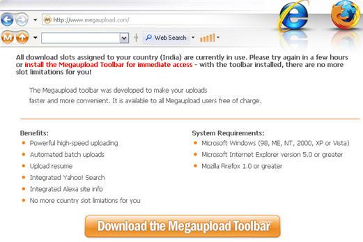 Megaupload Spyware