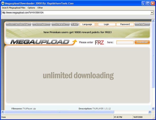 Megaupload Download
