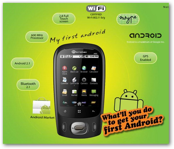 Micromax A60 Feature Sheet