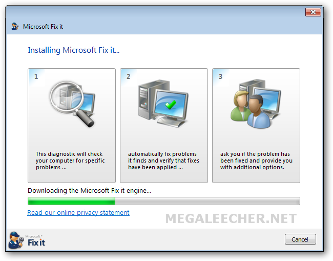 Microsoft Fix It Slow PC Speed Troubleshooter