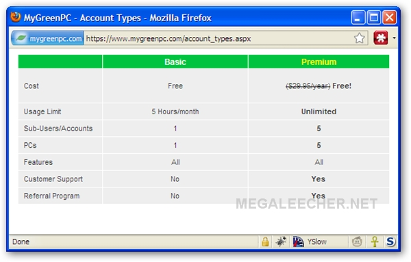 MyGreenPC Free Premium Account Offer