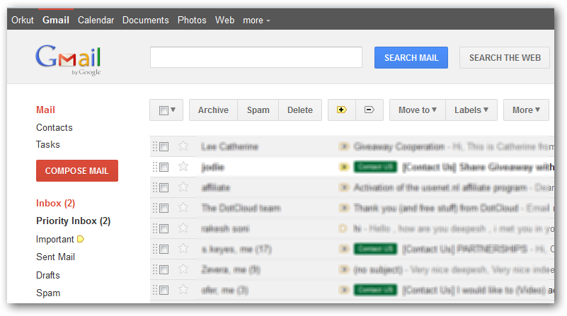 New Gmail Interface Theme