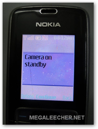 Camera On Standby Error On Nokia Phone