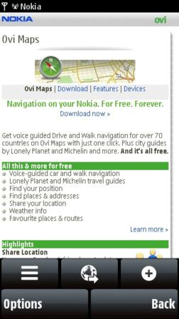 Nokia Ovi Maps Installation