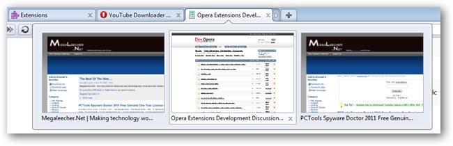 Opera 11 Tab Grouping