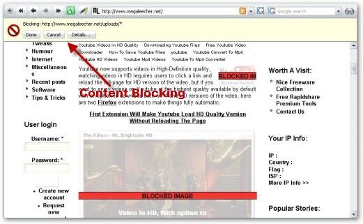 Opera Content Blocker