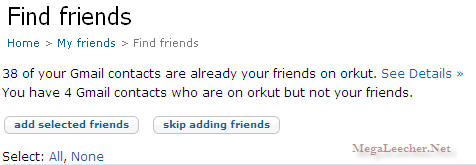 Orkut Invite Friends
