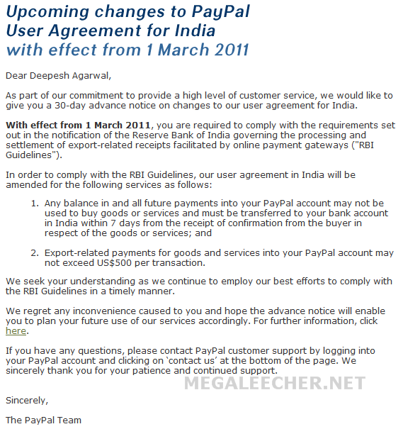 Paypal limit india - The talk wiki