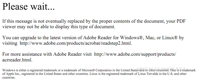 Adobe PDF Document Error