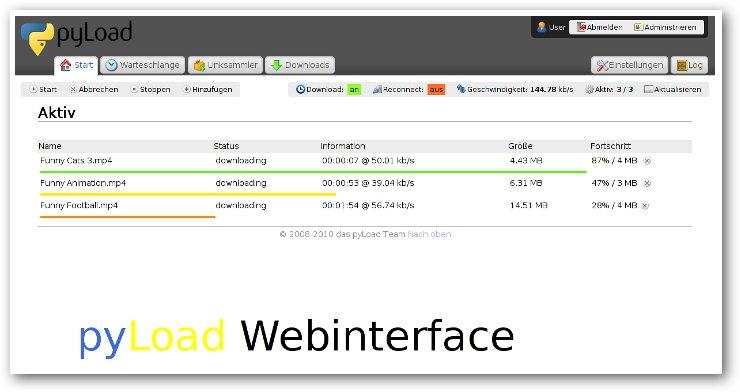 pyLoad - Free, Fast, Multi-platform, Lightweight Download