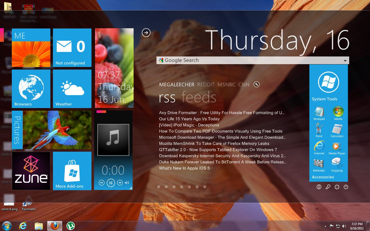 Rainmeter Windows 8 Desktop