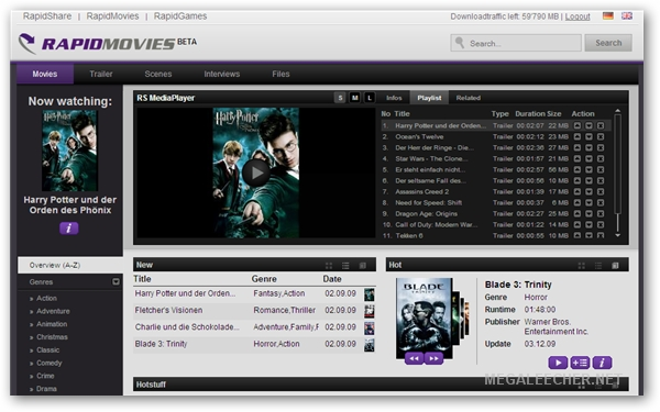 Rapidshare Legal Paid Movie Download Service