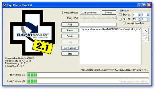 Rapidshare Plus Download Manager