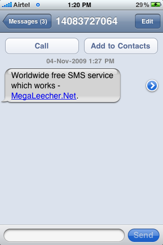 Free International SMS Messaging Service Which Works | Megaleecher Net