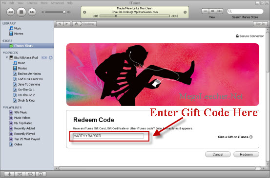 Free iTunes Store Gift Coupon To Create Account Without Credit Card