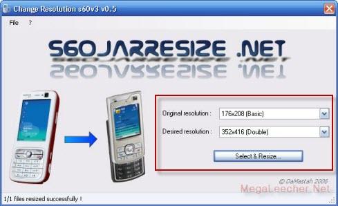 S60 JAR Resize